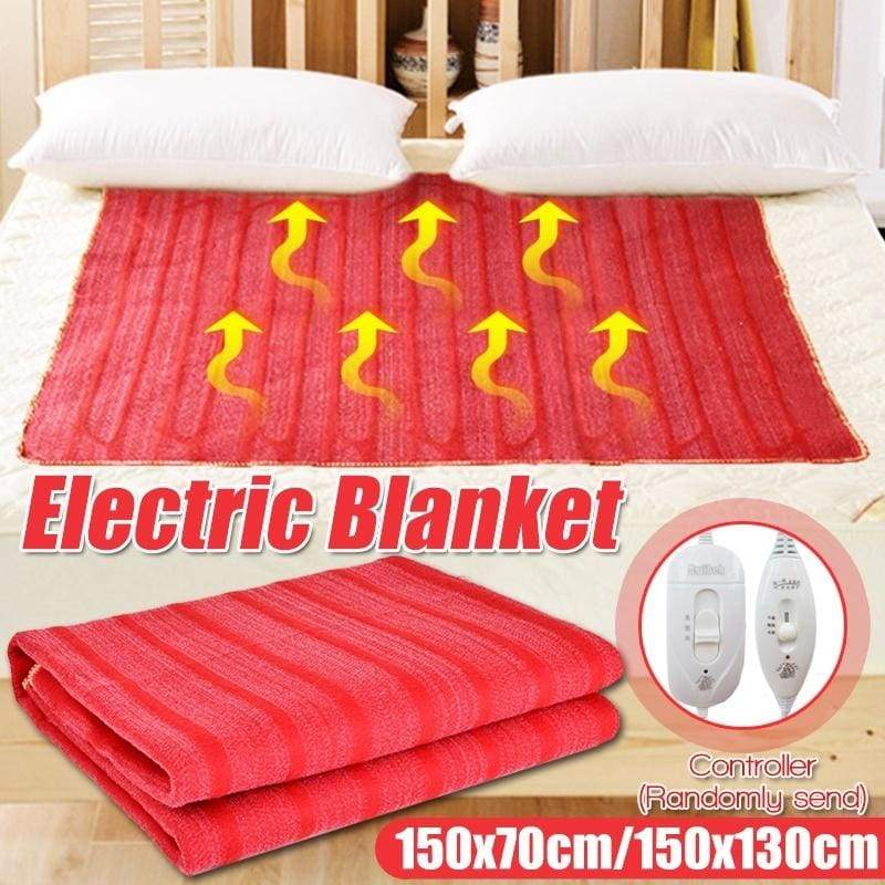 220V Electric Heated Blanket 3 Gear Adjustable Temperature Fast-Heating Auto Power Off Winter Warming Blanket