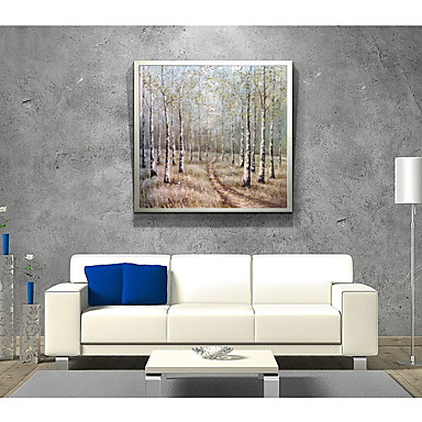 Oil Painting Hand Painted - Abstract Landscape Comtemporary Modern Stretched Can