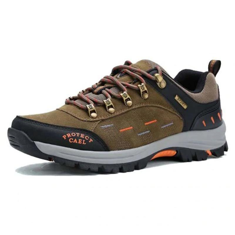 Men's Genuine Leather All Seasons Breathable Outdoors Hiking Leisure Sneakers