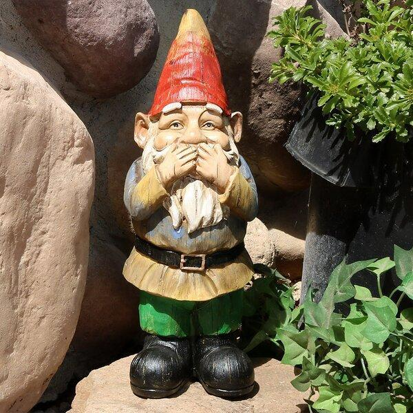 Sharbono Gnomes Wise Speak No Evil Statue