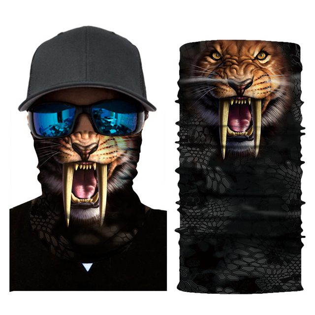 AHOME7 Neck Scarf Bandanas Skull Face Shield Headband Face Mask for Outdoor Outside Riding
