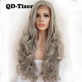 2020 New Gray Hair Wigs For African American Women Gray Ombre Weaves And Wigs Ash Gray Hair Colour Blesoy Wigs Silver Wig