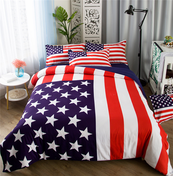 Dual Sided Thick Super Soft USA Flag Blanket