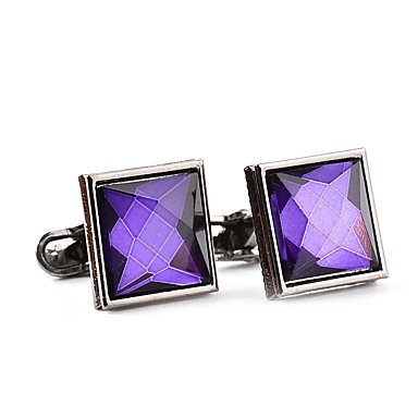 Cufflinks Formal Classic Fashion Crystal Brooch Jewelry White Purple For Daily Formal