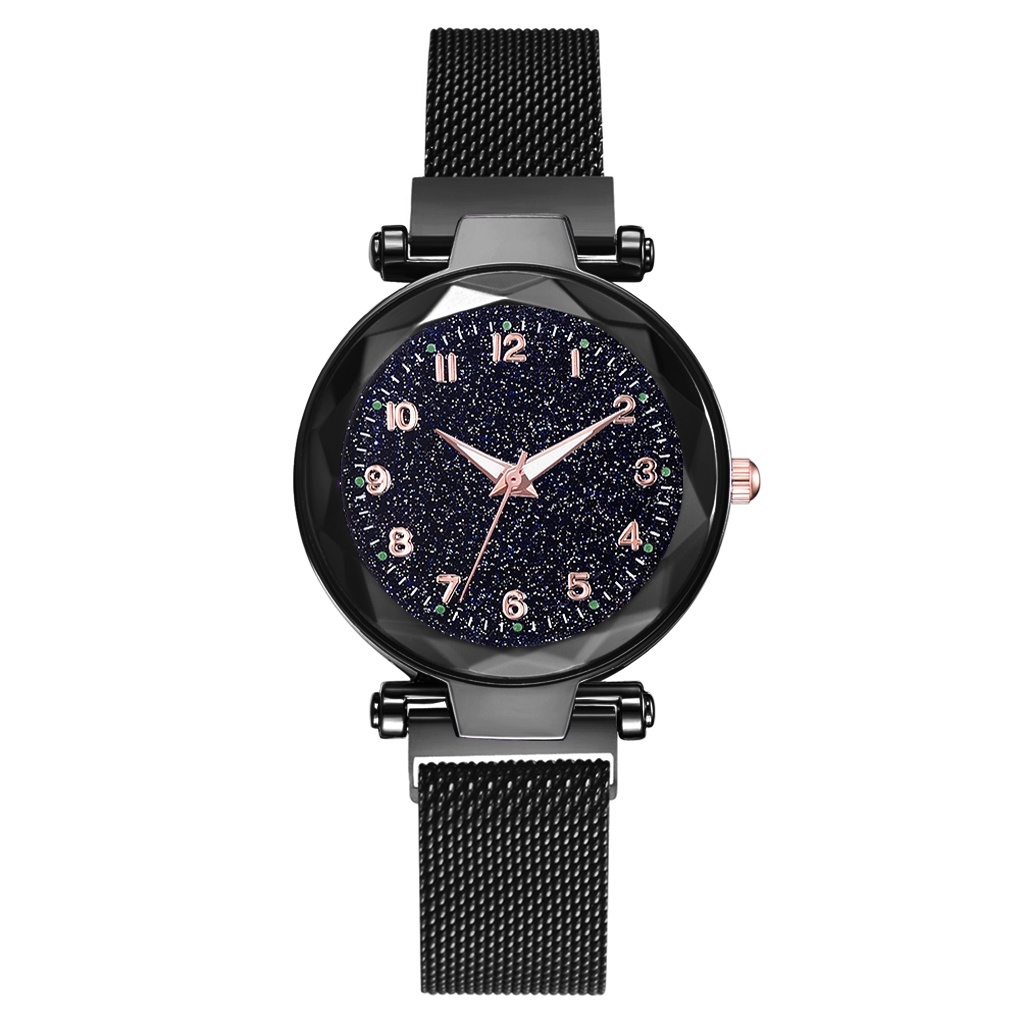 Fashion Women Watch Luxury Starry Sky Magnet Buckle Watches Rose Gold Bracelet Quartz Watch Thin Steel Female Ladies Clock Damen Uhren Montre Femme