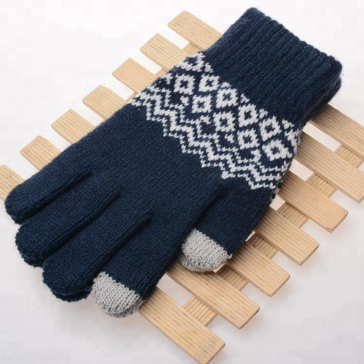 Fashion Accessories New Stylish Outdoor Acrylic Super Soft Unisex Winter Knitted Gloves-1.9