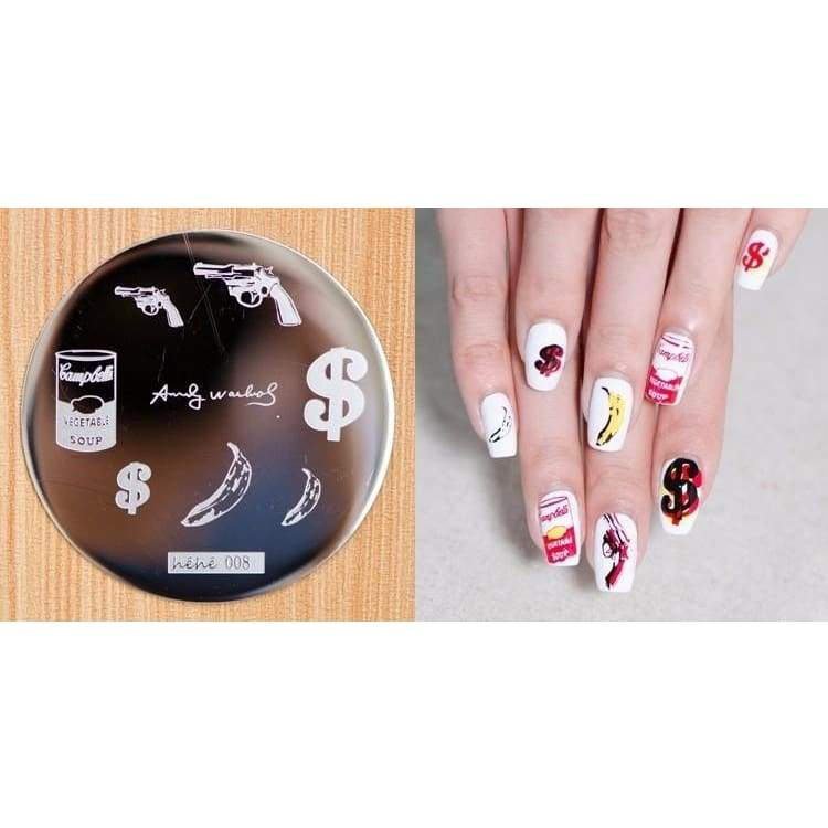 5 Piece Fashion Beauty 3d Nail Decals Hive Flower Pattern Women's Fashion Nail Stickers Nail Art Image Plate Stamper Stamping Manicure Template
