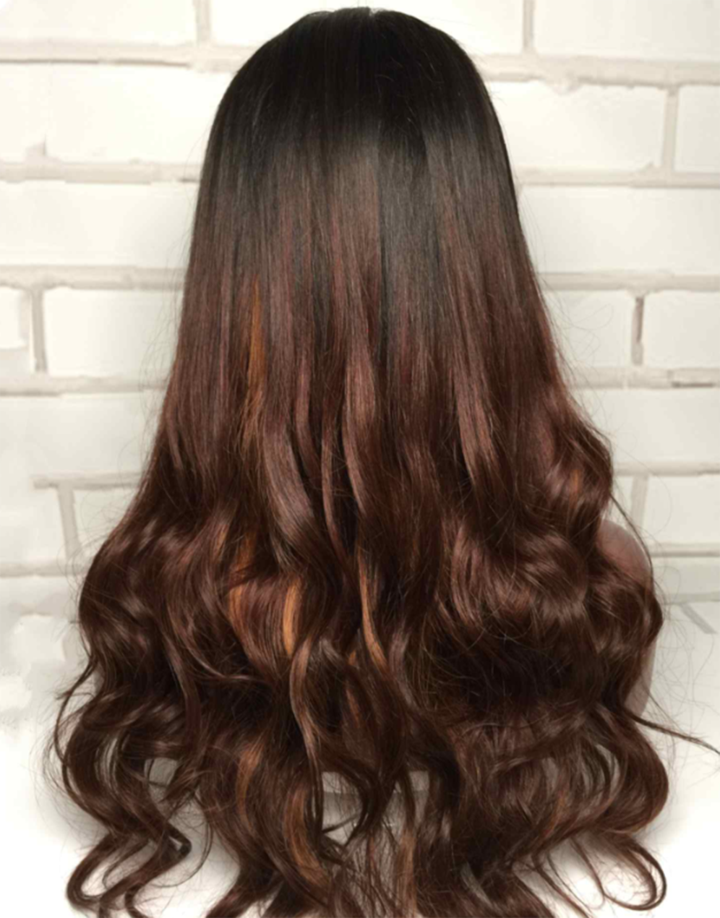 Luna Lace Front Wig S36 Layered Long Curly Hair for Women