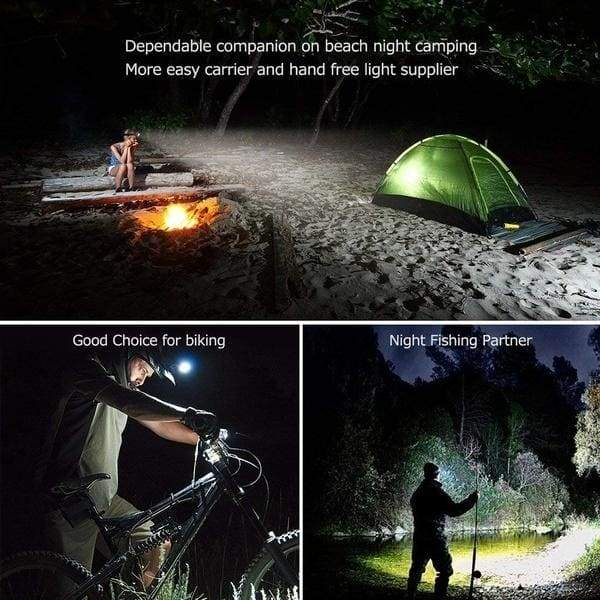 Super Bright Headlamp 5*T6 LED Head Lamp 52000000LM Flashlight Torch Lanterna Head Light with 18650 Battery AC/DC Charger