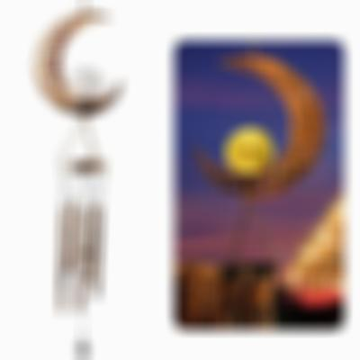 Sun Moon and Star Wind Chimes solar energy generation