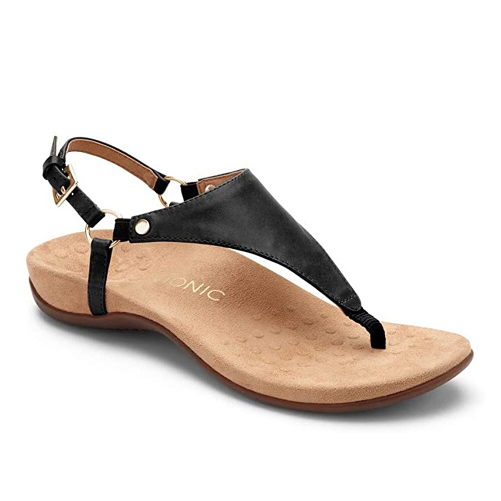 PU Leather with Flat Sandals