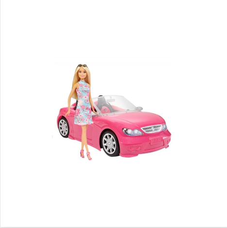 Doll Convertible Car Barbie Mattel