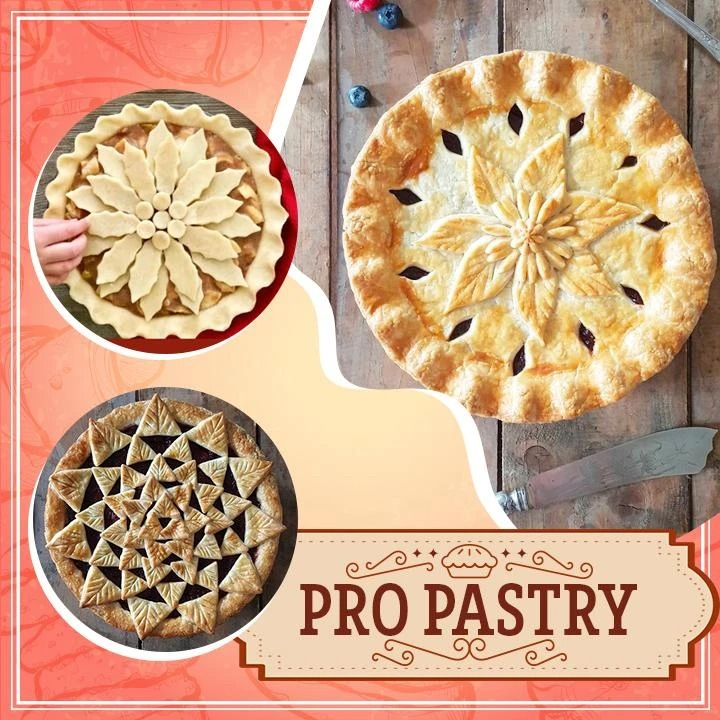 Pastry Wheel Roll and Plunger Set