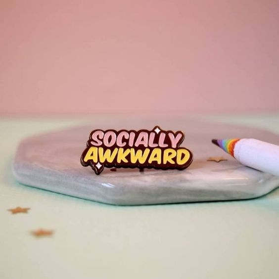 Socially Awkward Brooches Pins Lapel Backpack Pins