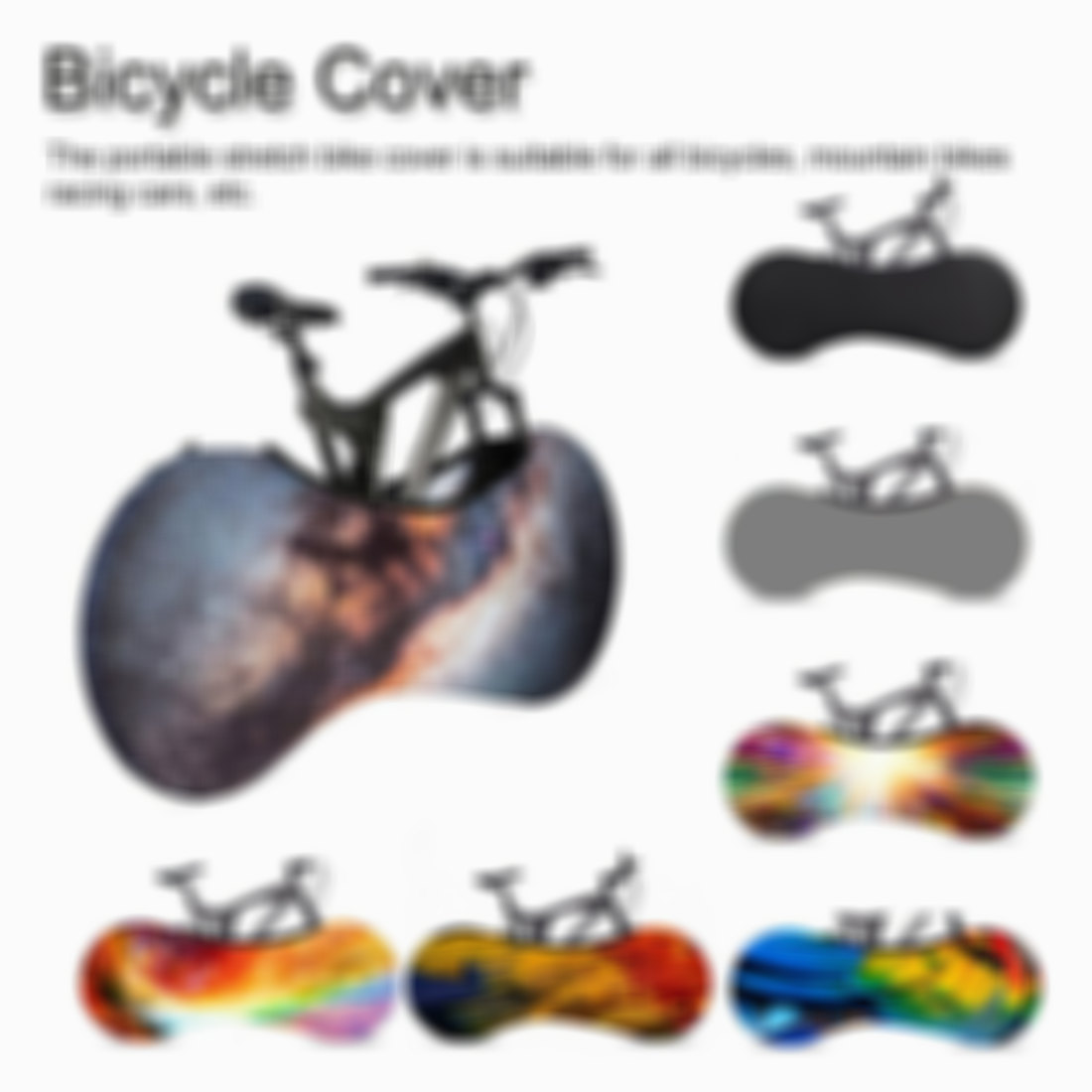 Bike Cover Washable Elastic Dirt-Free Bike Storage Wheel Cover Tire Package Fit All Bicycles