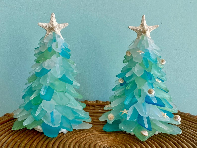 🎁Shop Celebration Day Buy 1 Get 2 Only $19.98🎁Christmas Sea Glass Tree