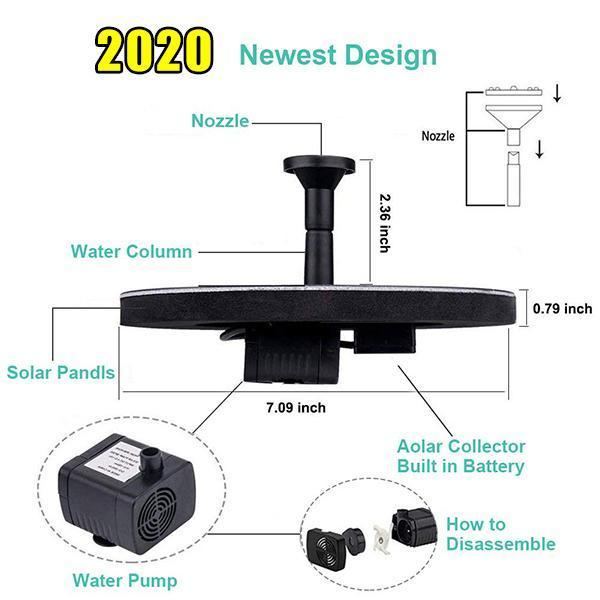 (Last Day Promotion 50% OFF-Arrival In 5-10 Days)-Summer Solar Powered Bionic Fountain