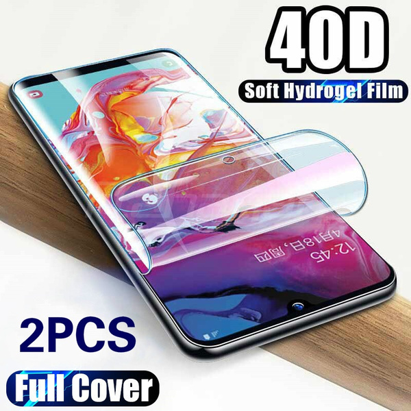 2pcs Screen Protector Hydrogel Film for iphone 11 11 Promax X/XS Samsung S20 S20Plus S10 S10Lite Note10 A51 A71 A50 Protective Film for Huawei P40 P40Lite P40Pro P20 P20Lite P30 Not Glass