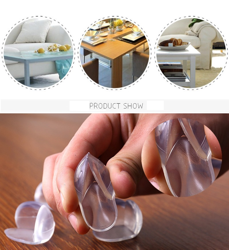 💥Last Day Promotions💥 Thick Silicone Table Corner Protector & Set of 4 Pcs