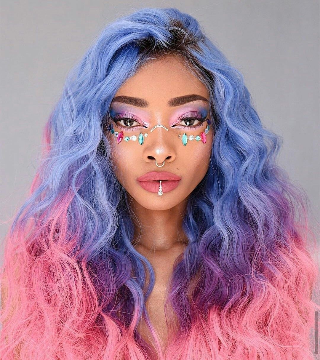 Blue Wigs Lace Frontal Wigs Cheap Human Wigs Hair Blue And Purple Kylie Blue Wig Blue Purple Pink Wig