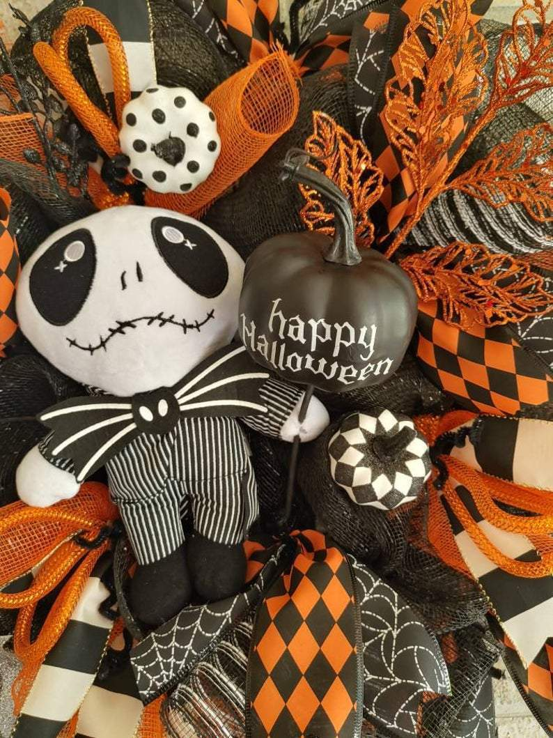 🎃Halloween Wreath Nightmare Before Christmas Wreath