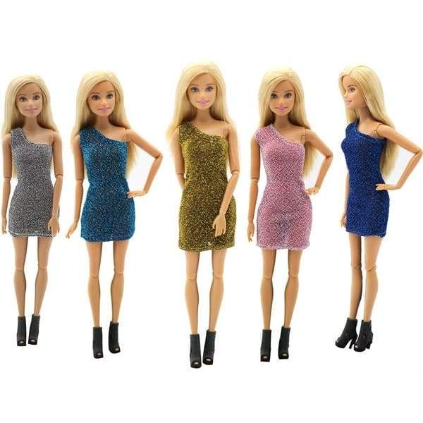 Mini Skirt Dress Doll Clothes Handmade Fashion Party Dress for Barbie Doll Elegant Clothes for Dolls
