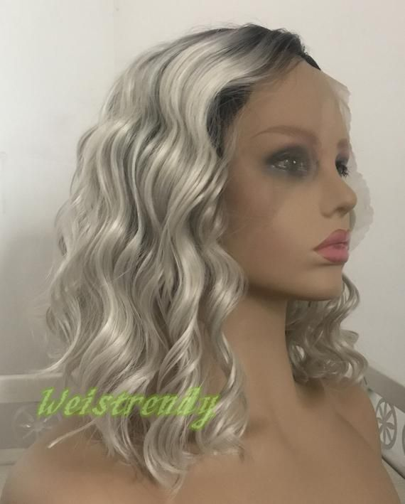 Gray Wigs Lace Frontal Hair Virgin Hair For Black Women Cosplay White Hair Long Gray Hair With Bangs Red White And Blue Mohawk Steel Grey Hair