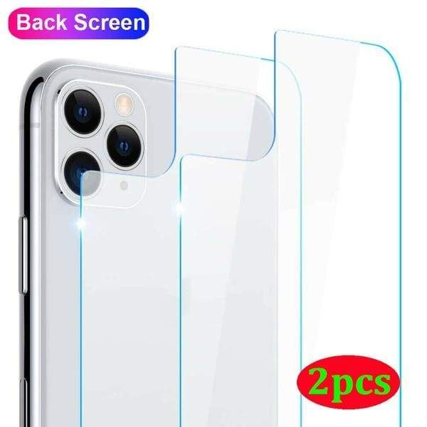 2pcs 9H Clear Tempered Glass Back Screen Protector For iPhone 11 Pro Max Xs Max XR X Xs 6 6S Plus 7 7Plus 8 8Plus