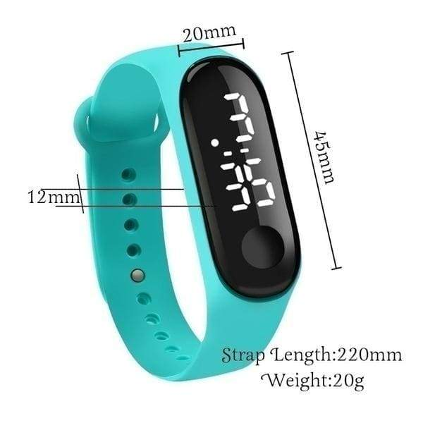 [High Quality,Real Touch Screen] 2020 New Hot Selling 1Pc Waterproof LED Digital Watch Luxury White Light Touch Screen Silicone Strap Watch Men Sports Women Yoga Bracelet Watch Kids Clock Best Christmas Gift