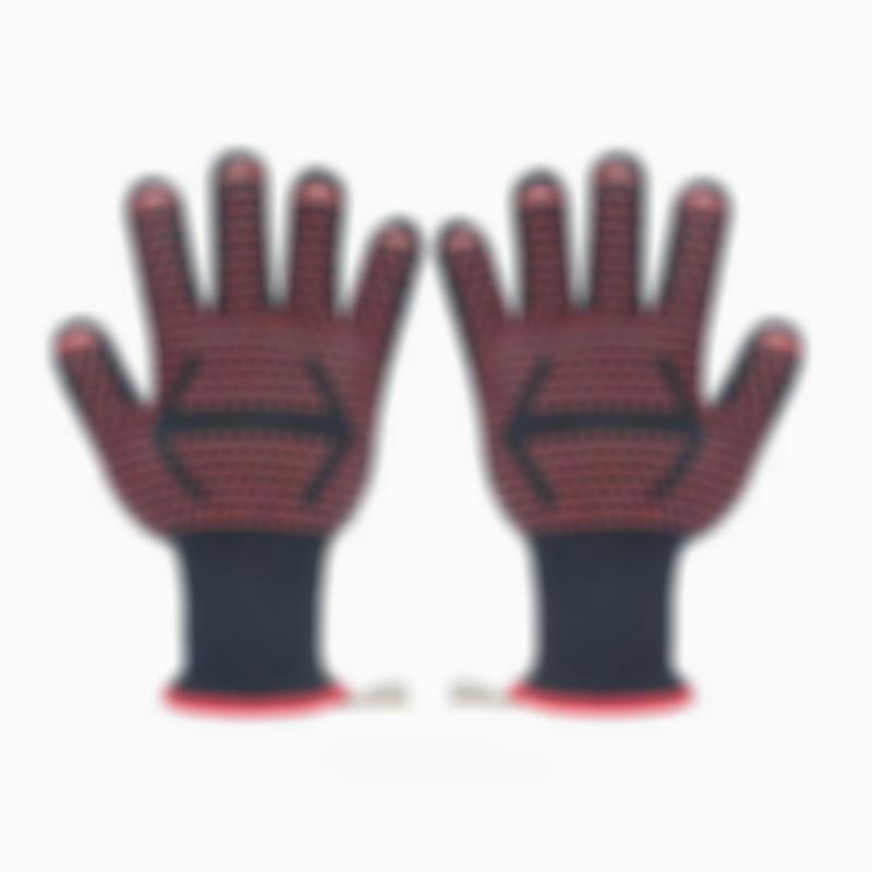 Long Heat Resistant Non-slip Breathable Gloves Oven Mitts for BBQ Grilling