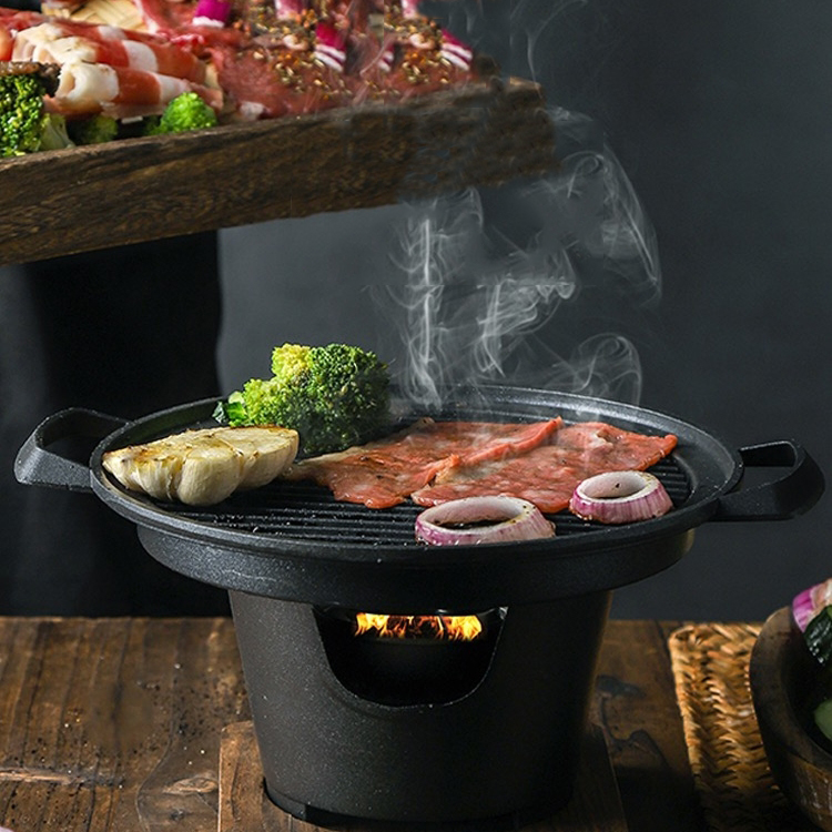 Household wooden rack barbecue stove