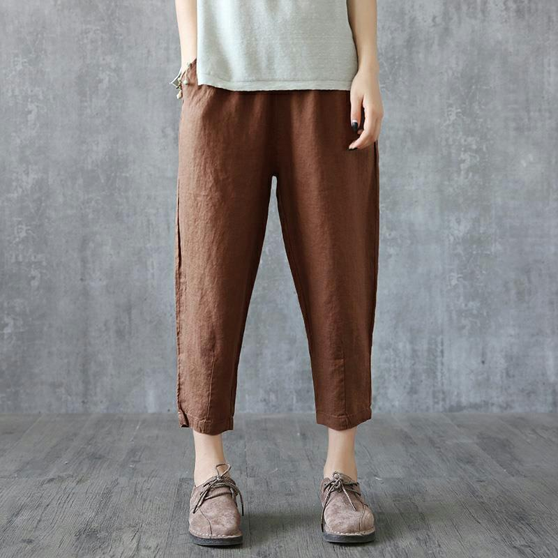 【The second item only for ?300!】Fashion Women's Loose Linen Pants ,Buy 2 items only for ?1799 today