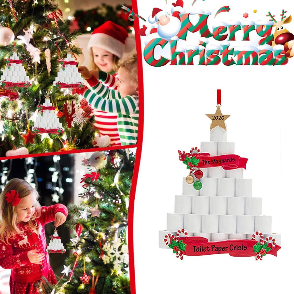 🎄Christmas Hot Sales🎅2020 Christmas Ornaments Toilet Paper