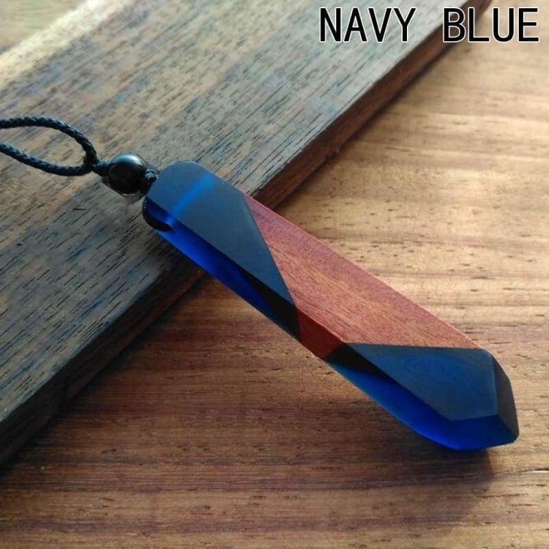 Vintage Handmade Resin Wood Velvet Rope Pendant Necklace Girl Holiday Leisure Necklaces
