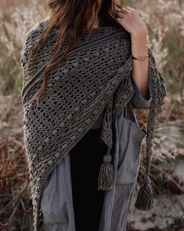 Vintage Hollow Out Shawl