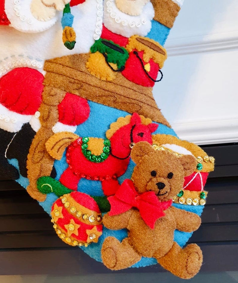 Christmas Stocking, Felt Stocking, Christmas Stocking, In the Workshop