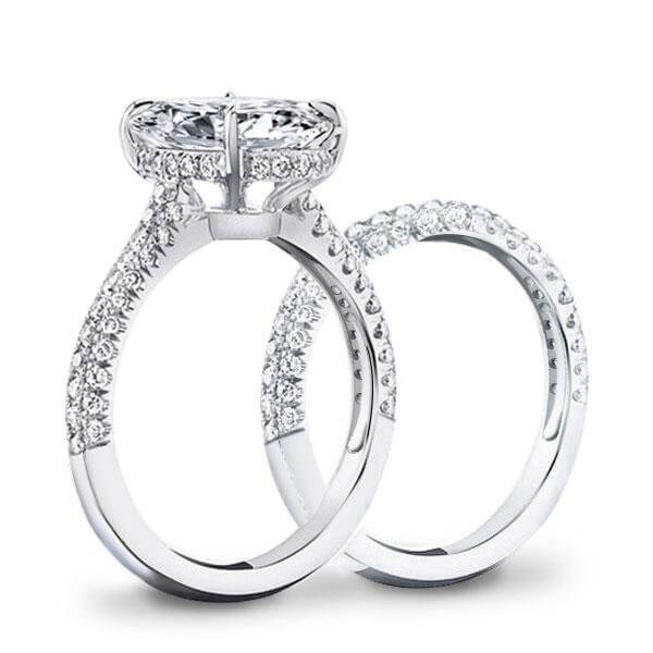 White Gold. 925 Sterling Silver Diamond Rings
