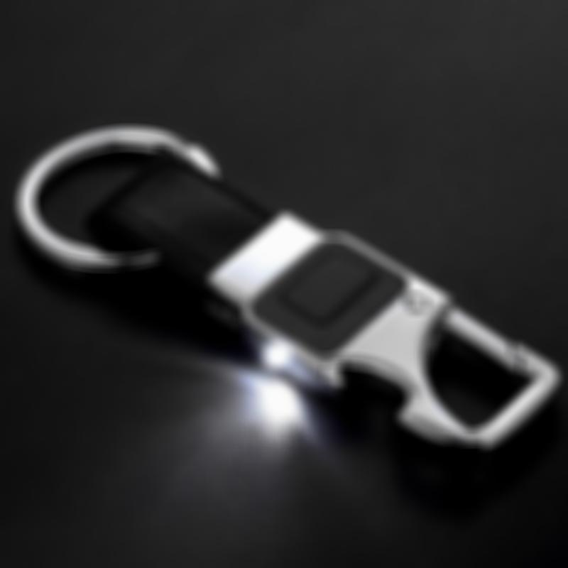 Lmfens Leather LED Light  Keychain