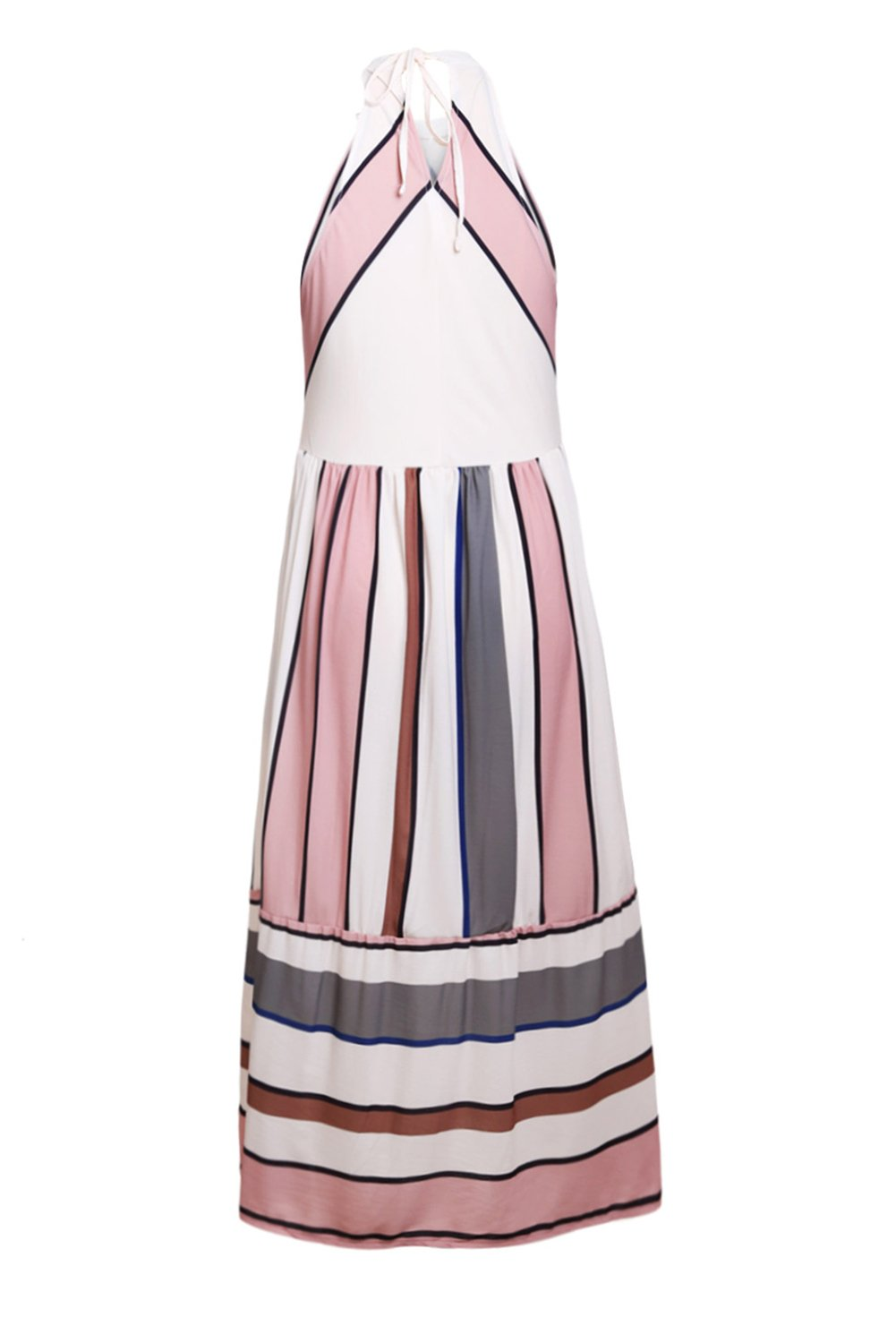 Women Clothing Designers The Best Apricot Striped Bohemian Women Clothing Designers The Best Midi Dress
