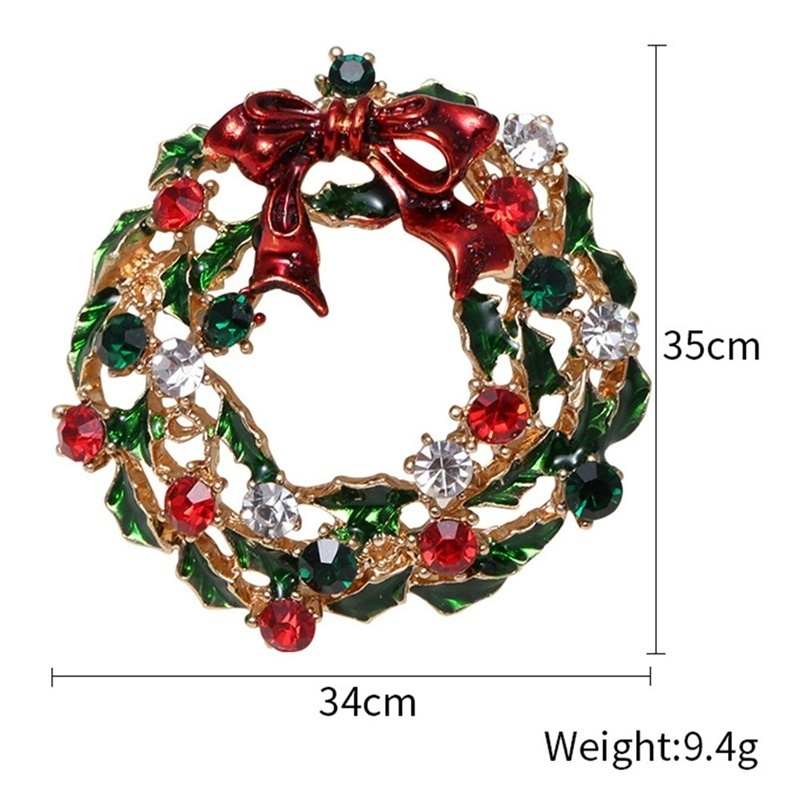 New Christmas Tree Crystal Brooches Pins Christmas Diamond Fashion Woman Jewelry Gift