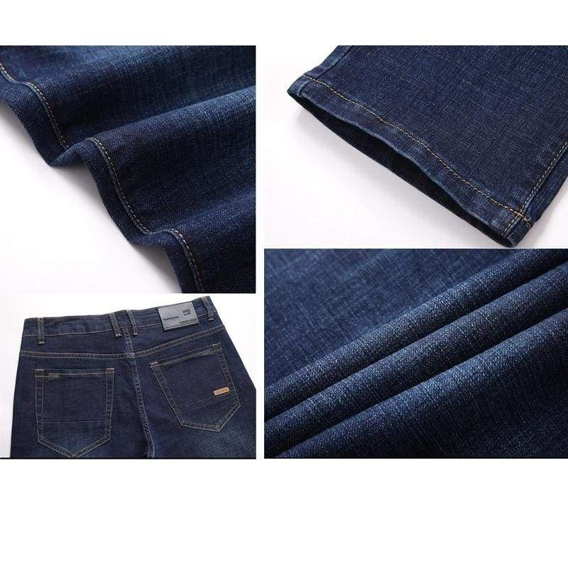 Men Jeans fashion straight business jeans Autumn men's casual jeans large size 30-42