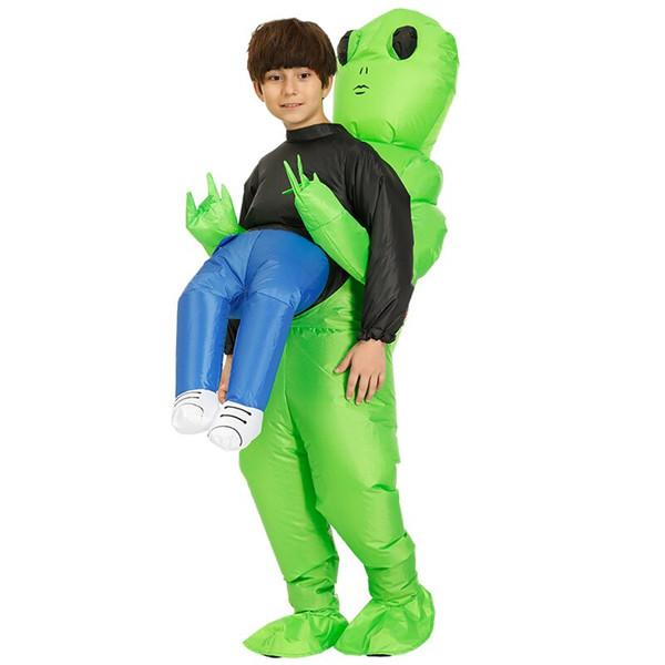 Buy 2 Free shipping-Green Alien Carrying Human Costume