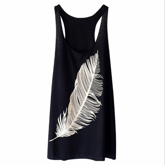 5 Colors Plus Size S-5XL Summer Women New Fashion Designed Sleeveless Blouse Top Vest Wings Patterns Printed Women Casual Style Summer Top Tank Vest