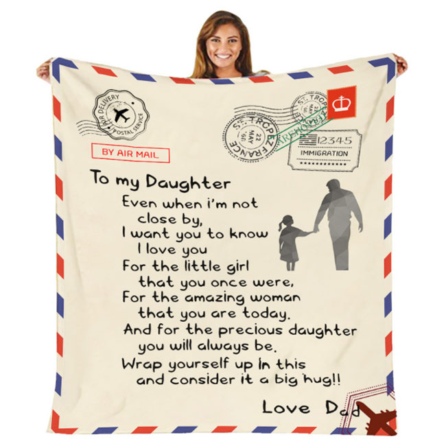 To Mom Love Letter Blanket Personalized Handwritten Mother's Day Gift