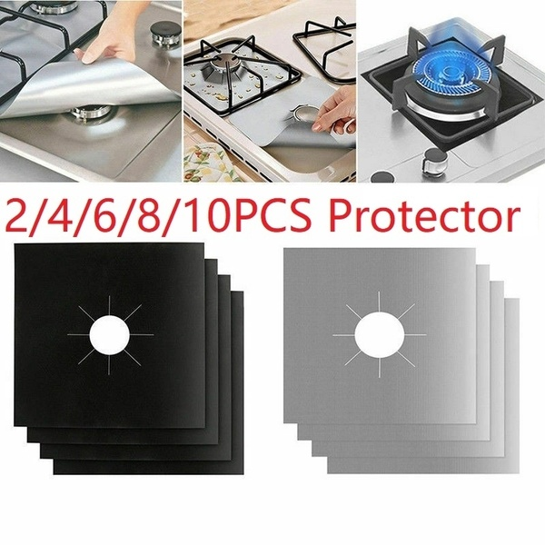2/4/6/8/10PCS Universal Stove Burner Covers Protector Sheets Oven Liner Protector reusable covers