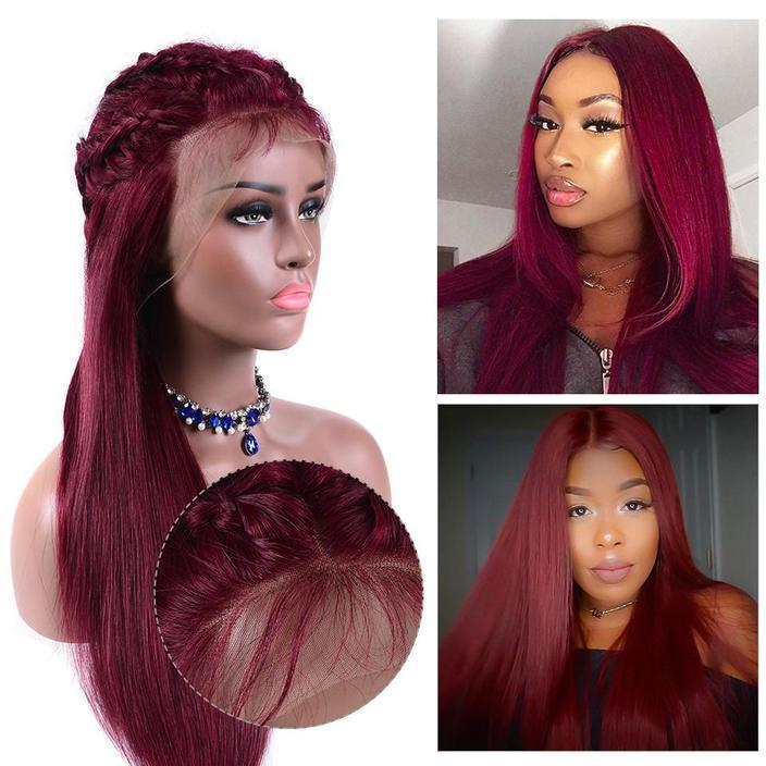 Lacwig® |  Red Wig Long Straight Wig Heat-Friendly Synthetic Hair
