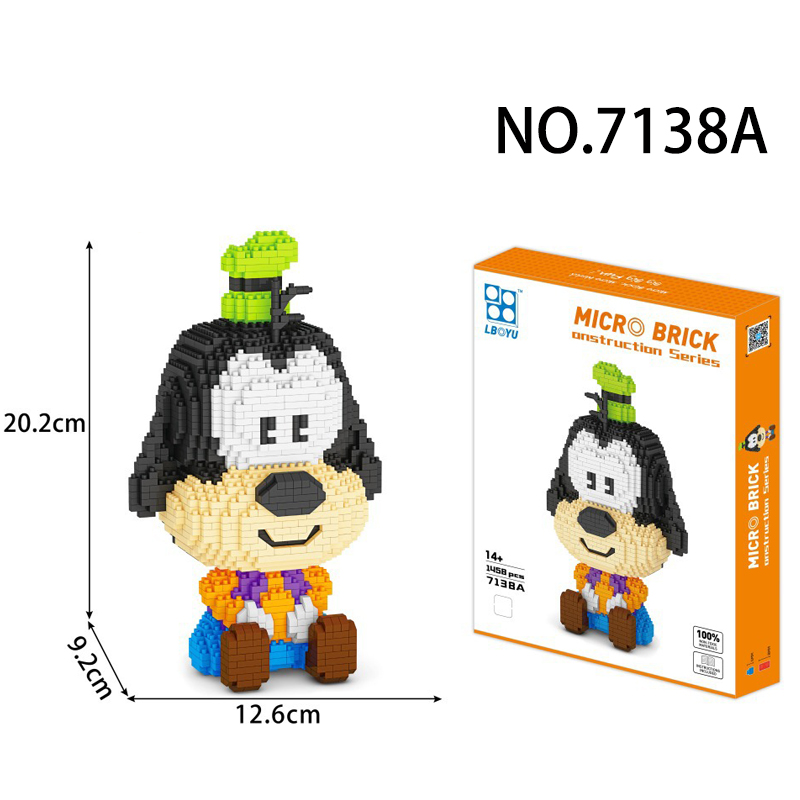 Mini Blocks cartoon Figure Micro Blocks Building Toy Educational Toys Anime Donkey Children Gifts Girls Present