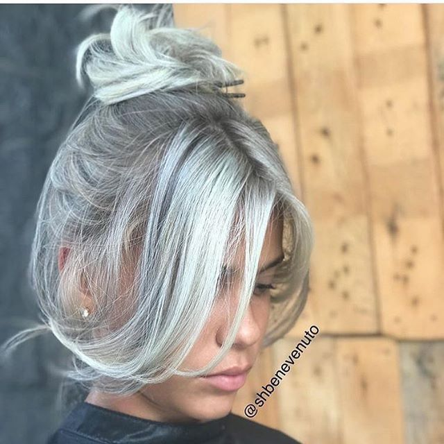 2020 New Gray Hair Wigs For African American Women Shop Wigs Gray Hair At 23 Lace Front Ponytail Going Silver Hair Fembot Wig