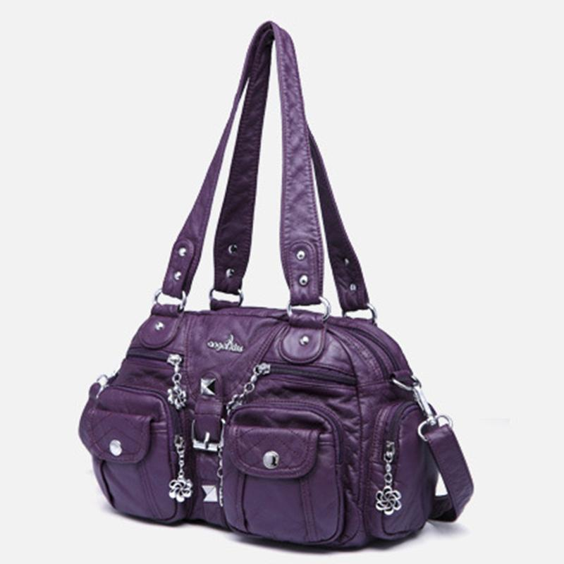 Solid Color Fashion Dumplings Messenger Bag