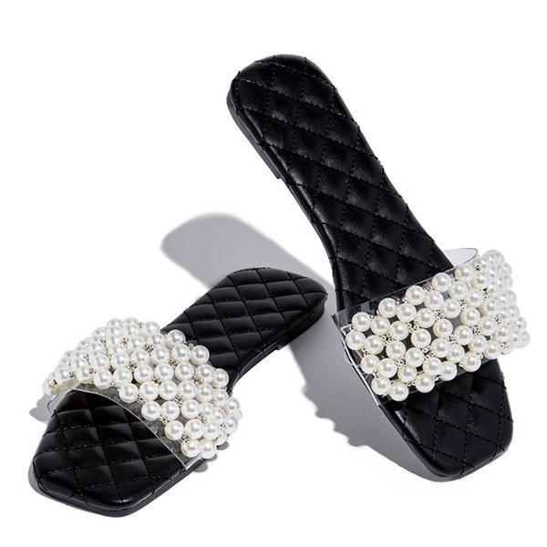 2021 summer new pearl slippers